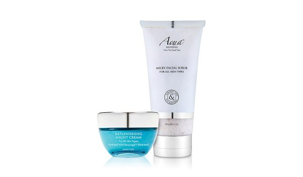 Aqua Mineral - Colecția Replenishing Night Cream & Milky Facial Scrub Duo